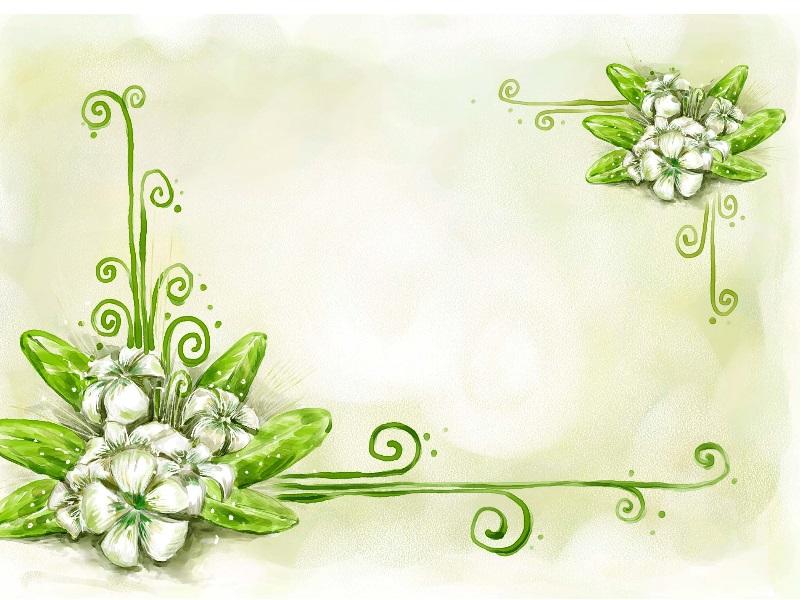 简单黑板报花边图案-晶莹的宝石花