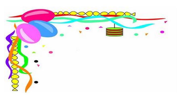 气球花边-黑板报版面设计图