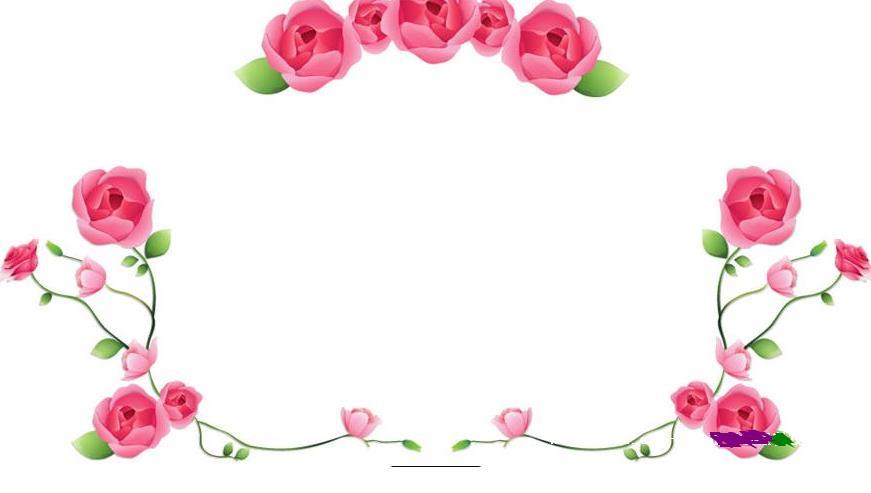 好看的黑板报花边图案之玫瑰花