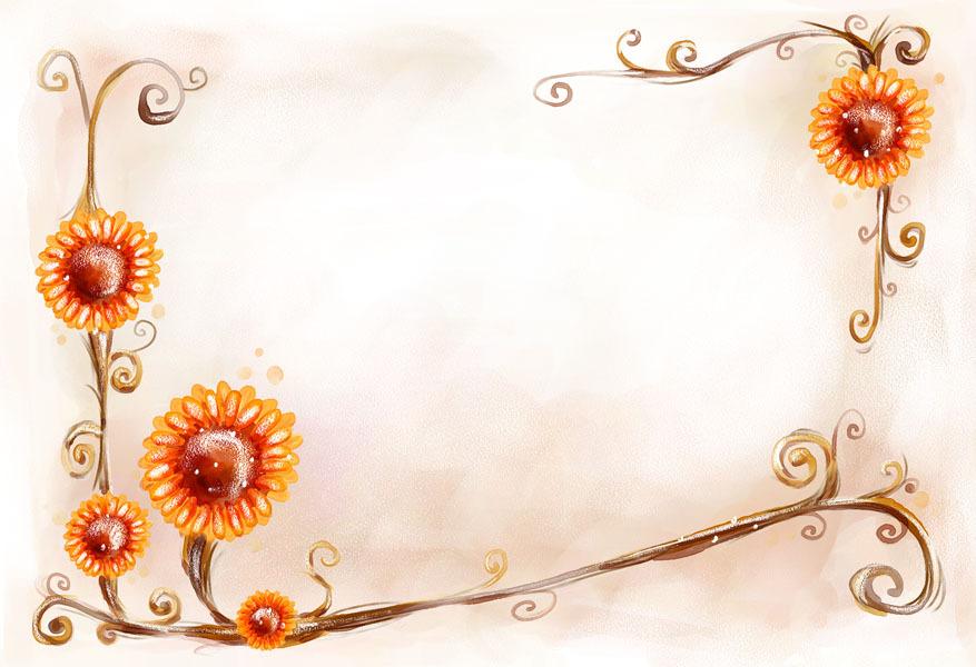 创意黑板报花边图案向日葵的别样姿态图片1