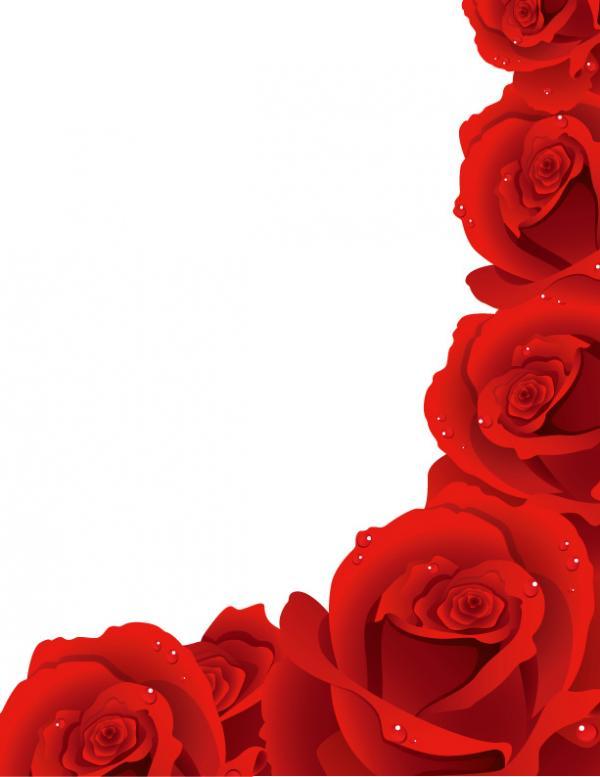 科学黑板报花边图案-美丽的玫瑰花_黑板报大全_手工