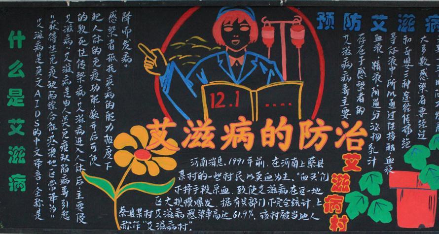 艾滋病常识-黑板报版面设计图崇礼标志v常识图片