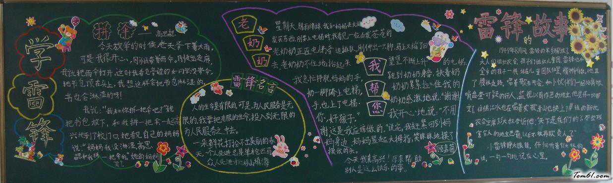 小学生读书主题黑板报版面设计图2