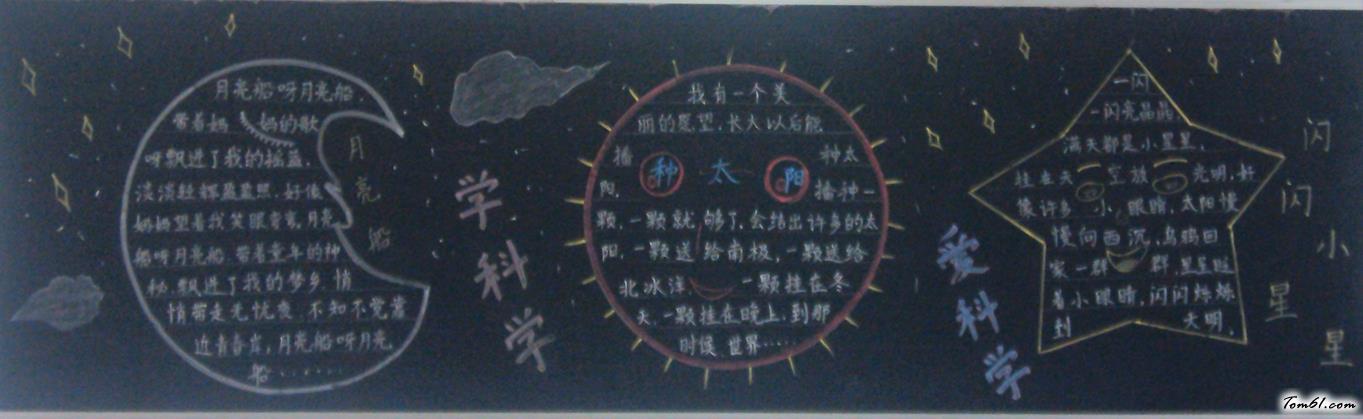 小学生创意黑板报版面设计图