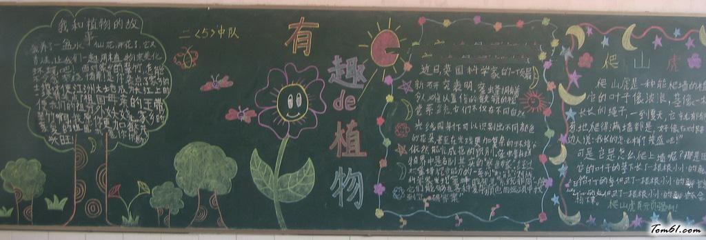 植树节的黑板报版面设计图