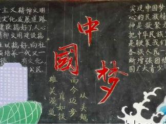 大学生中国梦黑板报版面设计图