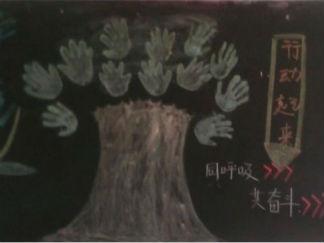 大学生环境日黑板报版面设计图