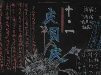 迎國慶慶華誕黑板報板面設計圖