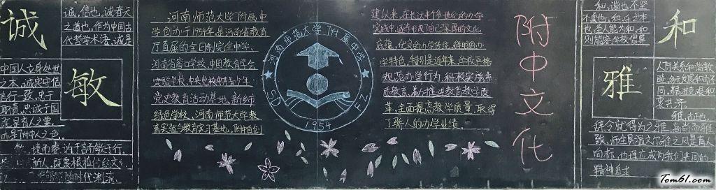 校園文化誠敏和雅黑板報版面設計圖