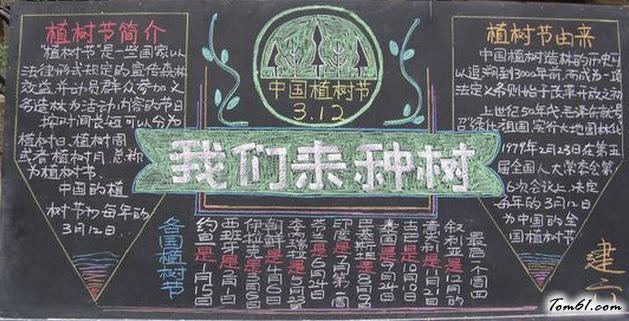 植樹節的黑板報版面設計圖5