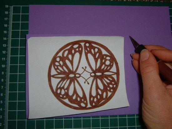 两只蝴蝶剪纸图案与图解教程_剪纸大全_手工制作大全