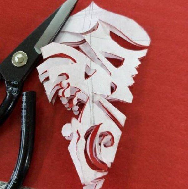 简单的入门剪纸方法步骤 儿童创意剪纸图案图片9