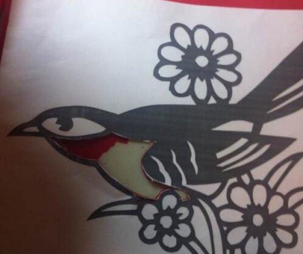 花鸟剪纸图案与图解教程