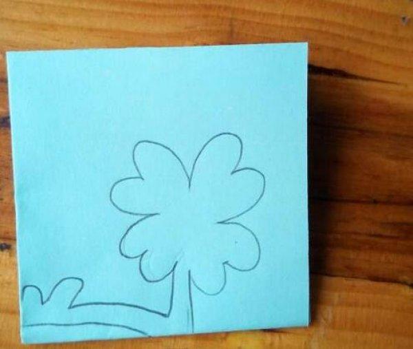 四叶草剪纸图案与图解教程