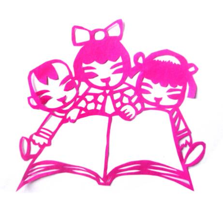 儿童剪纸图案大全及方法-书香进校园图片1