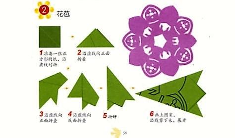 花苞(六角折法)的剪纸图案与图解教程
