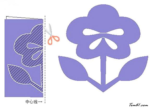 小花的剪纸图案与图解教程_剪纸大全_手工制作大全