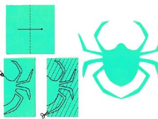 可愛小蜘蛛的剪紙圖案與圖解教程