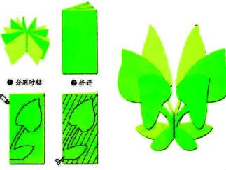 桃花剪紙圖案與圖解教程