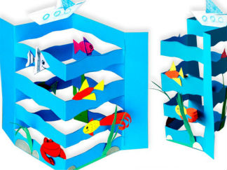 海洋大學的剪紙圖案與圖解教程