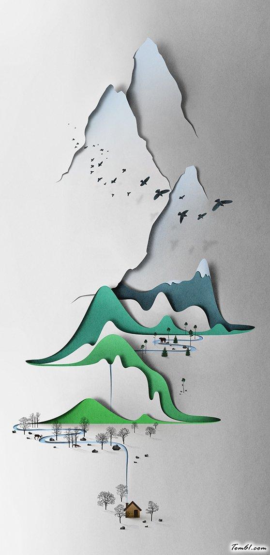 山谷藝術剪紙圖案與圖解教程