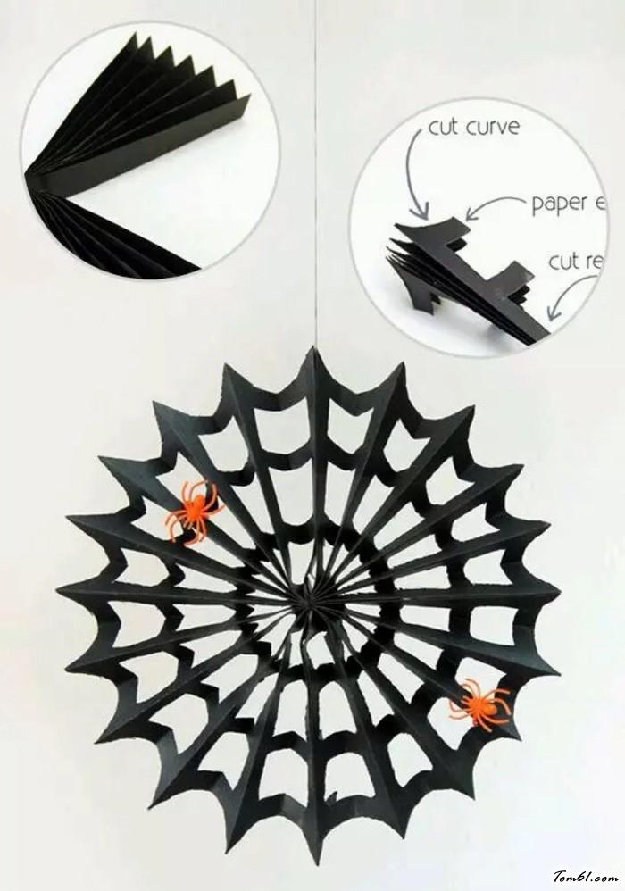 蜘蛛網的剪紙圖案與圖解教程