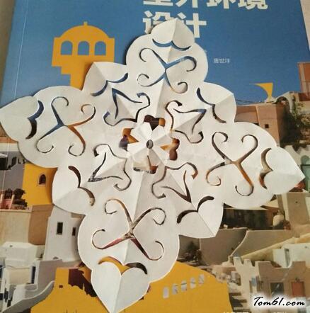 四角窗花的剪紙剪紙圖案與圖解教程