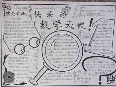 快乐的数学天地手抄报版面设计图图片