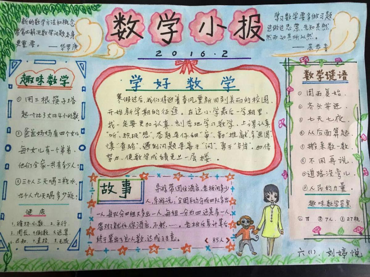 六年级数学手抄报版面设计图图片