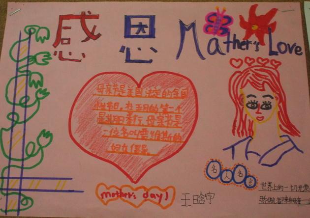 感恩妈妈小学生母亲节手抄报图片图片1