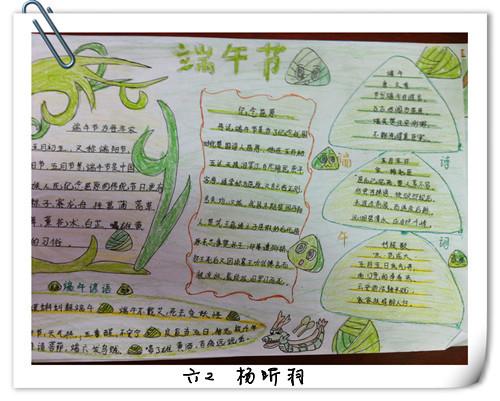小学生端午节手抄报版面设计图