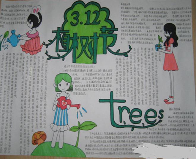 种植希望,一起动起来哦,现在就跟着小编一起来欣赏下植树节手抄报吧.图片