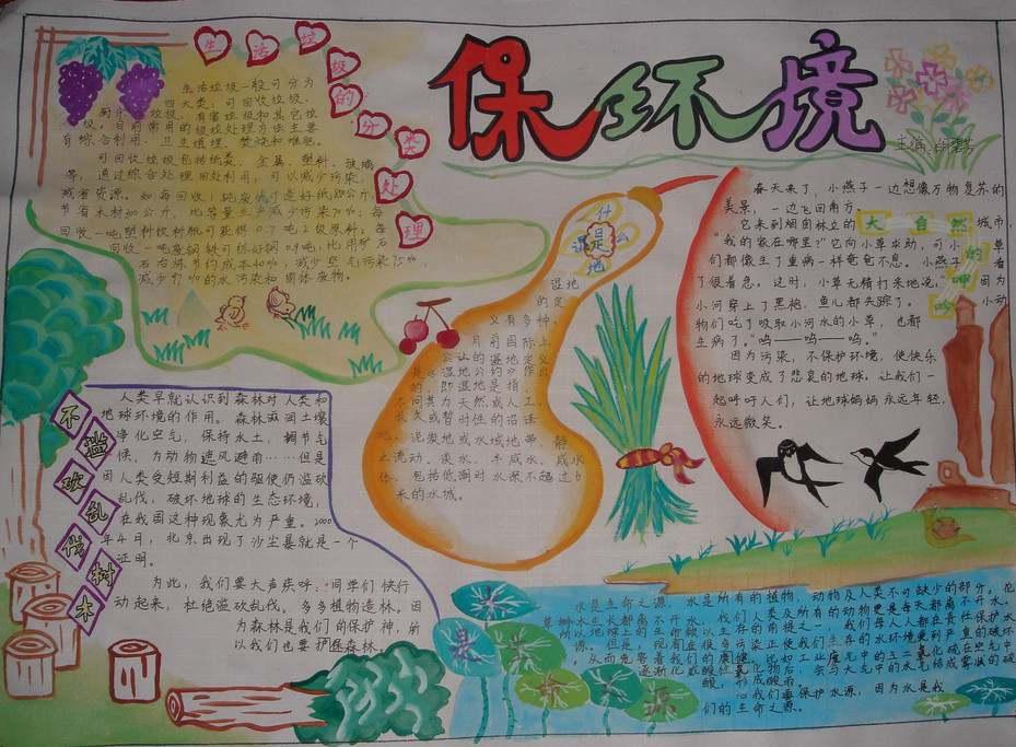 世界环境日手抄报版面设计图