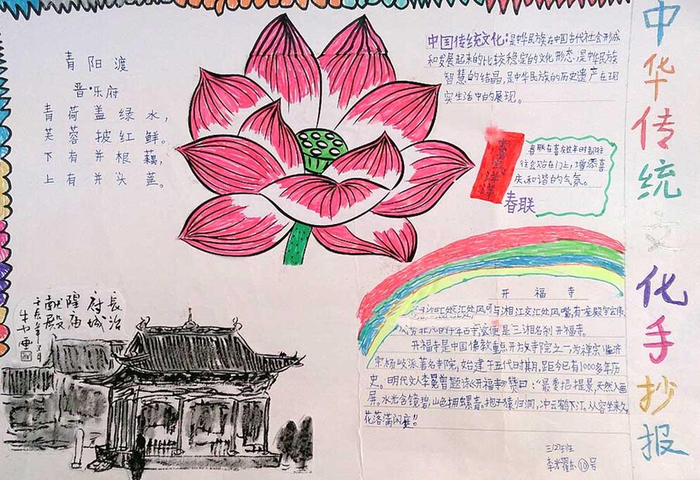 传统文化手抄报图片1图片