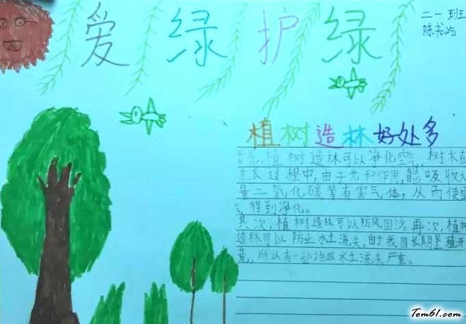 爱绿护绿手抄报版面,小学六年级爱绿护绿手抄报内容资料,爱绿护绿我能图片