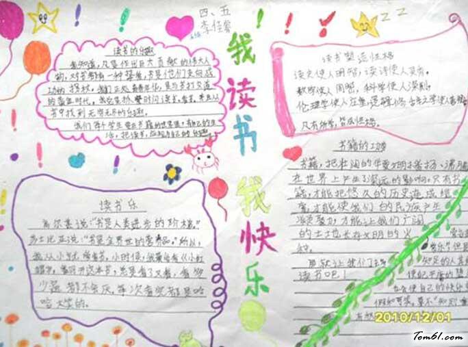 关于读书的手抄报图片素材大全,小学生读书手抄报版面,阅读名著手抄报图片