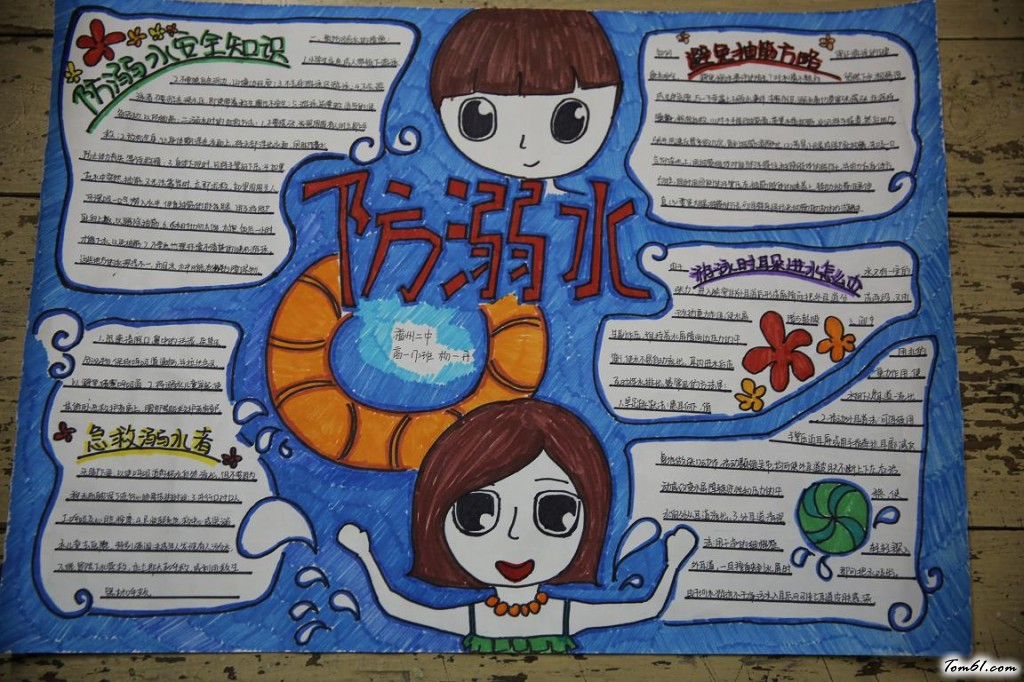 高中生暑假防溺水手抄报版面设计图