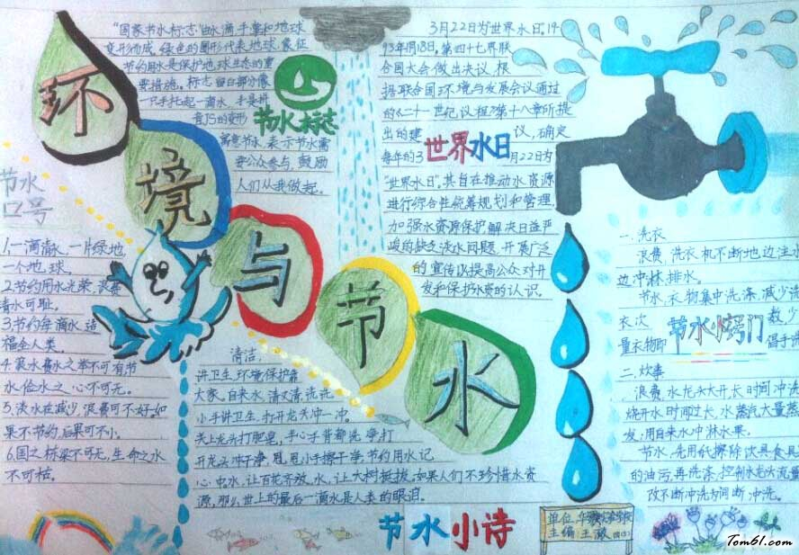 世界水日手抄报_世界水日手抄报版面设计图
