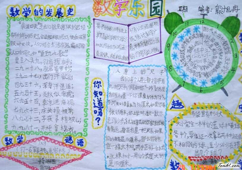 数学手抄报版面设计图五图片