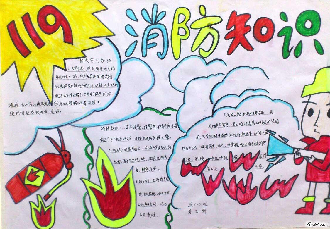 小学生森林防火手抄报版面设计图