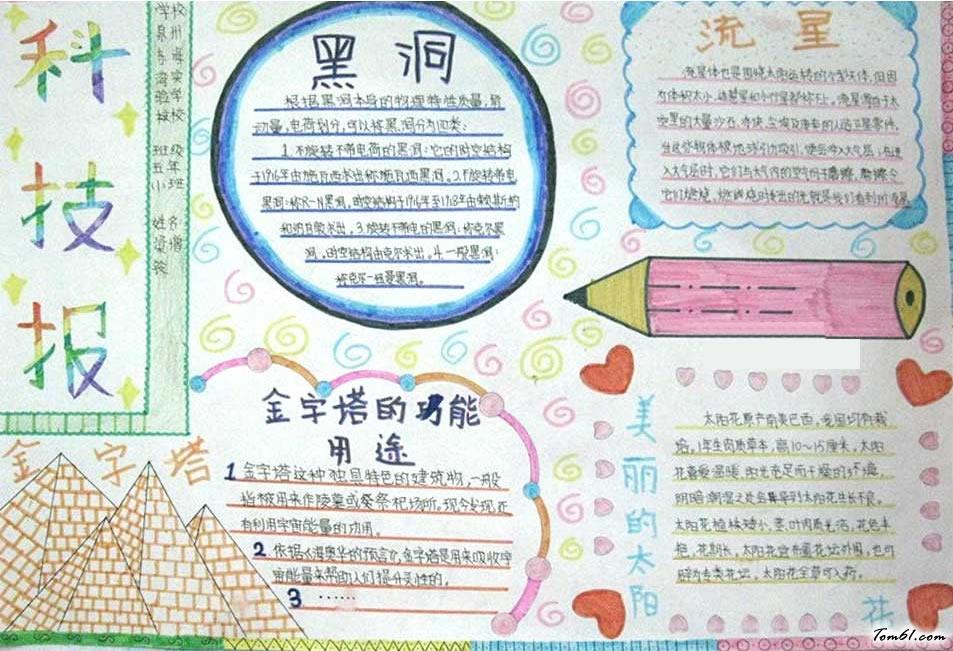 小学生科技手抄报版面设计图