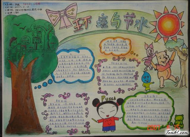 儿童保护环境手抄报版面设计图