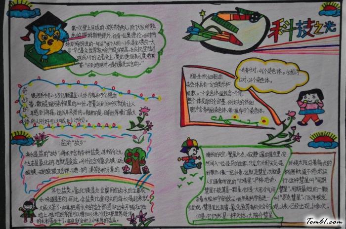 科技之光小学生科普手抄报版面设计图图片