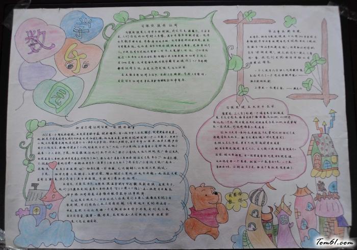 小学五年级数学手抄报版面设计图