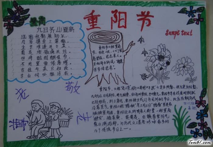 重阳节尊老敬老手抄报版面设计图2图片