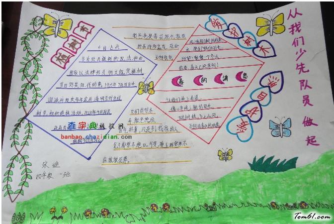 小学生植树节手抄报版面设计图2