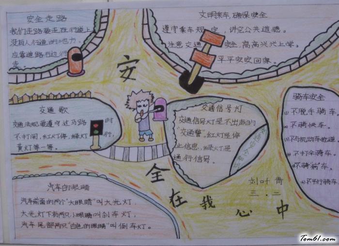 小学生安全手抄报版面设计图2