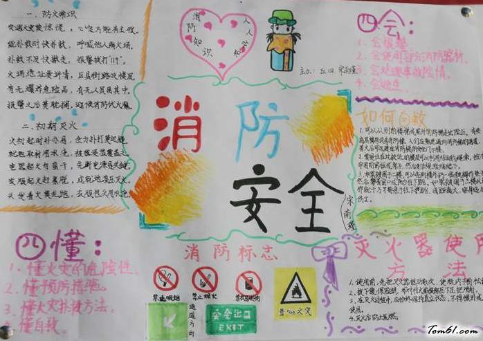 消防安全教育手抄报版面设计图2图片