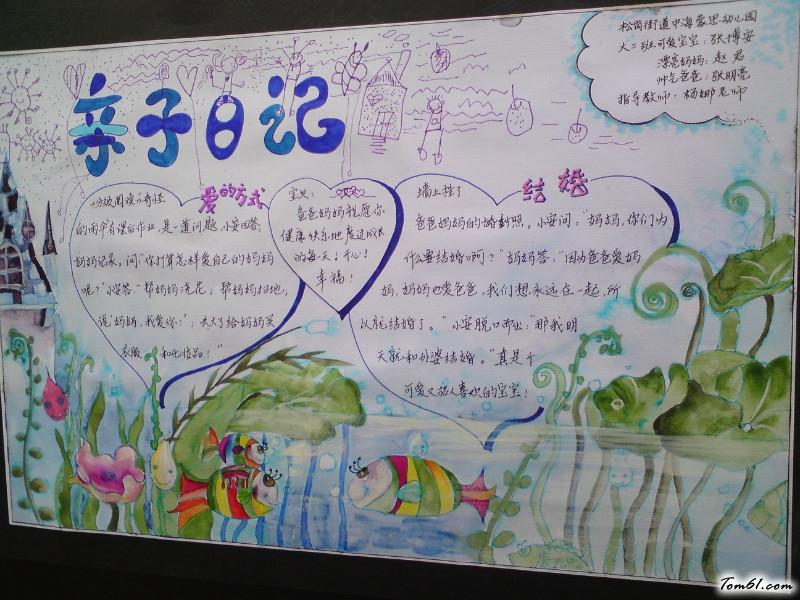 小学生六年级亲子日记手抄报版面设计图
