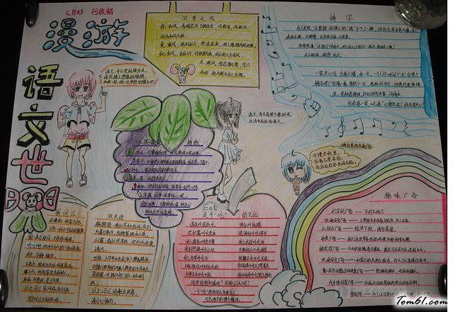 漫游语文世界手抄报版面设计图2